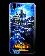 Чехол накладка для Lenovo A6020 Vibe K5 Plus силиконовый с рисунком, Warcraft Arthas