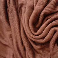 Трикотаж натуральный вязаный по кругу , ткань  шир 70см коньяк