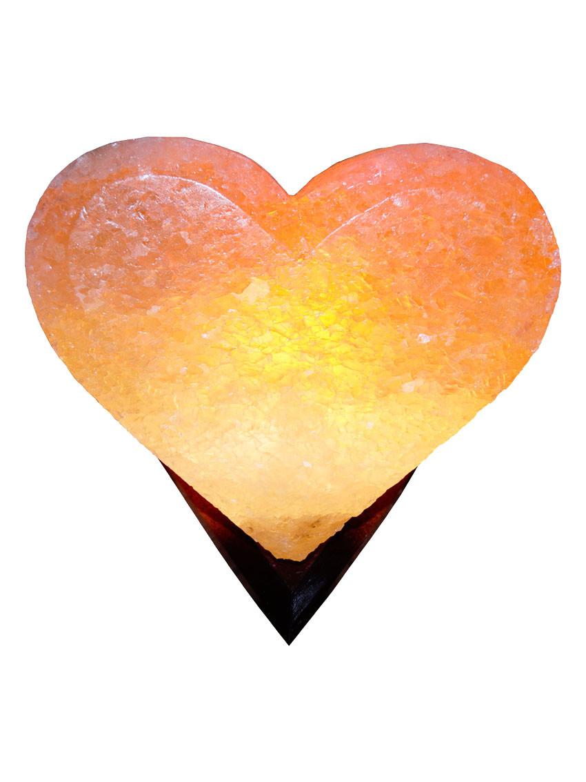 """Соляна лампа """"Серце"""" 3-4 кг"""