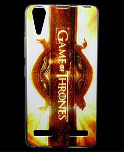 Чехол накладка для Lenovo A6010 PRO силиконовый с рисунком, Game of Thrones