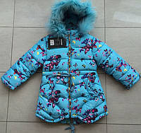 "курточка зимняя для девочки ""Бабочки"""