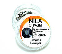 Nila стразы Hematite, размер 5, 100 шт. , фото 1