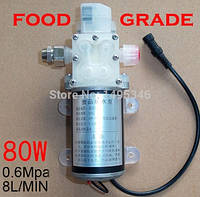 Мембранный пищевой насос 80 Вт, 8 л/мин