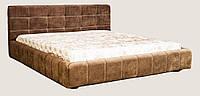 Кровать двуспальная Эван с подъемным механизмом 1800х2000 мм (2000х2260х930 мм) ткань искусственная замша шоколадного цвета кат. D (Recline 01)