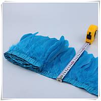Тесьма перьевая из гусиных перьев.Цвет Dark Aquamarine . Цена за 0.5м