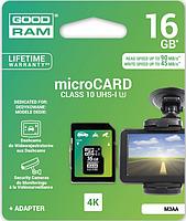 Карта памяти GOODRAM microSDHC 16GB UHS I MLC U3 + ad (R90, W45MB / s) microSDHC;емкость: 16 GB; в комплекте