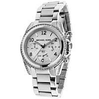 Женские часы Michael Kors Parker Silver-Tone Crystal Chrono , фото 1