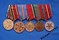 Колодка , планка с медалями 5 шт