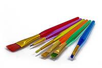 Набор кисточек для росписи пряников 16 см 6 шт