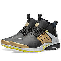 Оригинальные  кроссовки Nike Air Presto Mid Utility Black & Yellow Strike