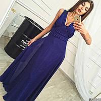 Вечернее платье в пол с шифоновой юбкой