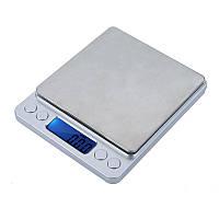 Ювелирные электронные весы 0,1- 2000 гр, с 2-мя чашами
