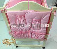 Карман на кроватку НАНО Эко розовый