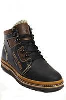 Зимние мужские ботинки из натуральной кожи на полиуретановой подошве.