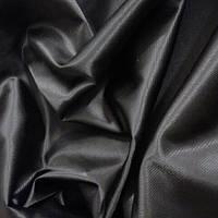 Плащевка черная с метализированной нитью шир 150 см