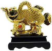 Статуэтка рыба Араван, золото 220х220х110