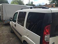 Fiat Doblo II 2005+ гг. Рейлинги Черные Макси база, пластиковые ножки