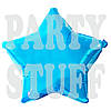 Фольгированные шарики Звезда, голубой 44 см
