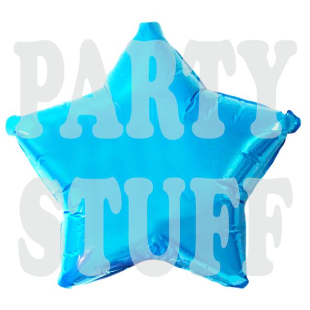 фольгированный шар голубая звезда