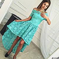 Вечернею асимметрическое гипюровое платье