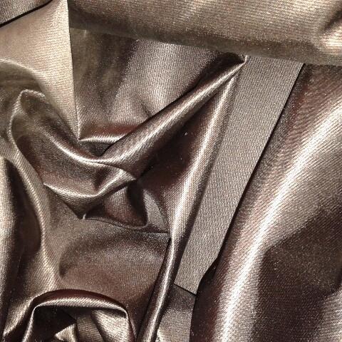 Плащевка шоколад антик с метализированной нитью шир 150 см