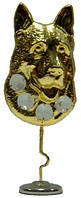 Статуэтка собаки, кристаллы сваровски  70х160х30