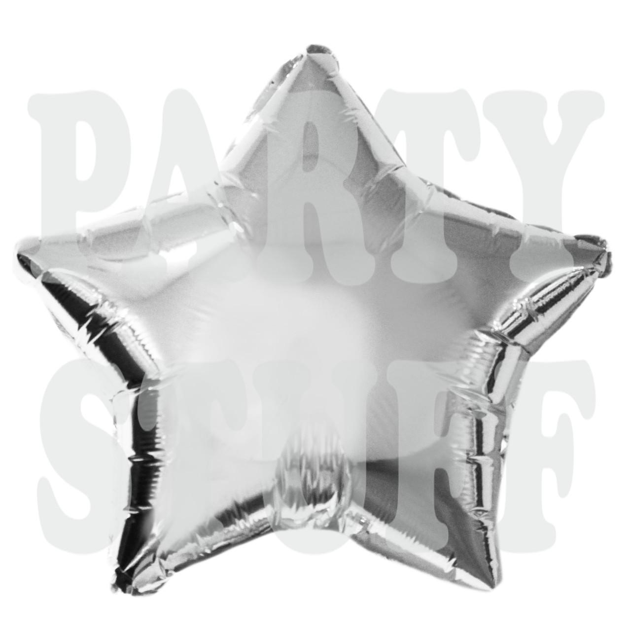 Фольгированные шарики Серебряная Звезда, 44*47 см