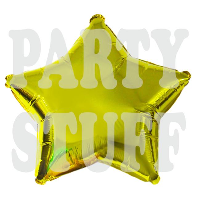 золотой фольгированный шар звезда, 32 см