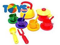 Набор детской посуды, с чайником и кастрюлей, Юника