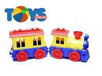 Детский паровоз с вагоном