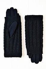Стрейч+ вязка Большие черные, фото 3