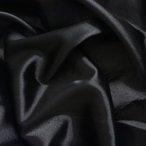 Атлас черный с матовым отливом шир 145 корея стреч