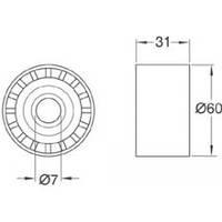 KAVO DIP-6502 = 532 0364 20 Натяжной ролик KAVO