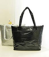 Дутая стеганая женская зимняя сумка под пуховик