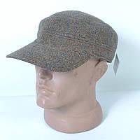 Стильная кашемировая мужская кепка-немка на флисе с ушками - Dragon - 29-546