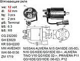 Втягуюче реле INFINITI FX35 GX35 MX35 NISSAN 100 NX Almera Cherry Primera Sunny, фото 2