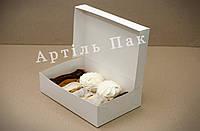 Коробочка для еклерів та зефіру 230*150*60 білий мелований картон