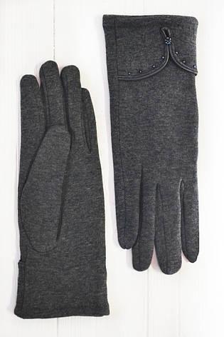 Трикотажные  темно-серые перчатки Большие, фото 2