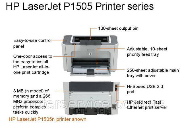 Бу HP P1505, лазерный принтер формата А4