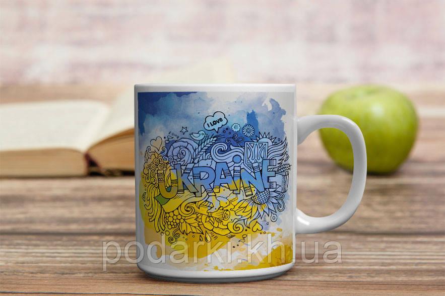 Чашка з абстракцією Україна