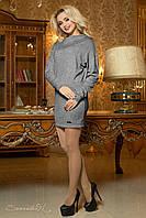 Темно-серое женское платье-туника из ангоры 1934 Seventeen  42-48  размеры