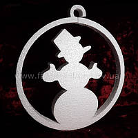 Шар и снеговик из пенопласта