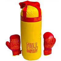 Боксерська груша FULL  1179 велика, 2в.черв.+жовта