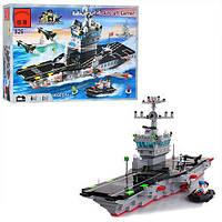 """Конструктор Brick """"Морська серія"""" 826 корабль авіаносець,508 д."""