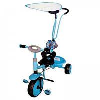 Велосипед 3-х колёсный Baby Mix с ручкой-толкателем голубой