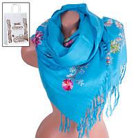 Шарф ETERNO Женский шерстяной шарф 180 на 70 см ETERNO (ЭТЕРНО) ES0206-7-blue