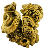 Статуэтка змея с монетой 120х100х70