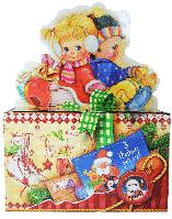 Картонная упаковка для новогодних подарков 2017