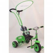 Велосипед 3-х колёсный Baby Mix с ручкой-толкателем зеленый
