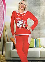 Пижама с манжетом интерлок хлопок Baray